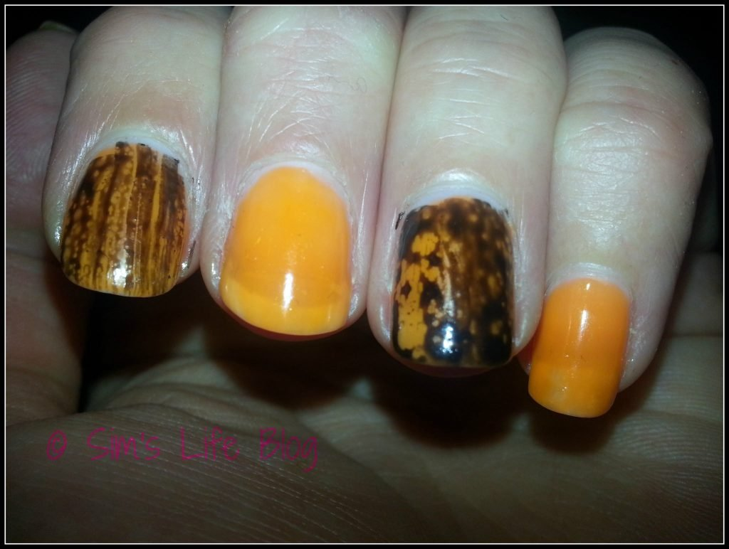 Essie Tart Deco and Black Spotted OPI