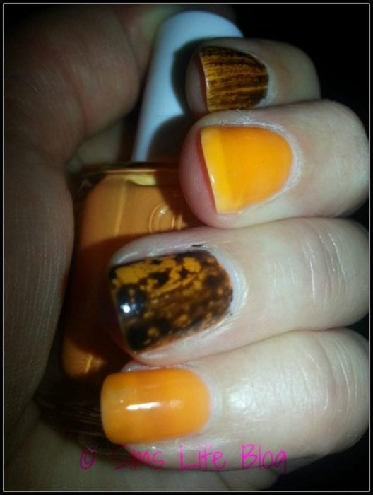 OPI Black Spotted and Essie Tart Deco