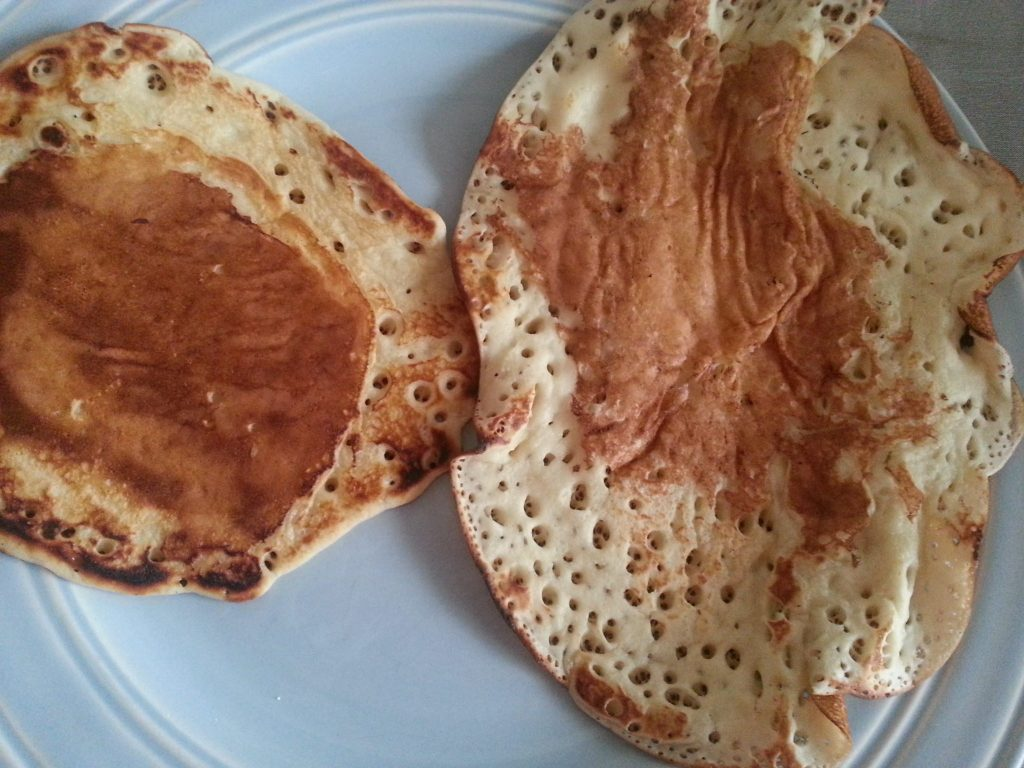 My Aunt Jemima's Pancake and Waffle Mix attempt!