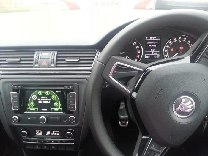 Driving console in Skoda Spaceback