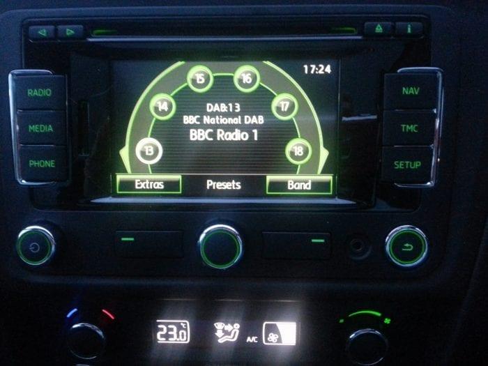 Radio in Skoda Rapid Spaceback