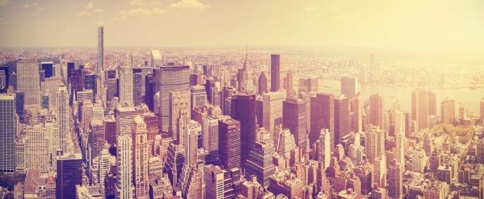 Pixers Canvas Print Manhattan Skyline