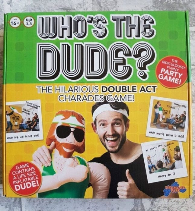 Who's the dude game giveaway