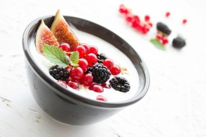 Bowl of raspberry fruit berries