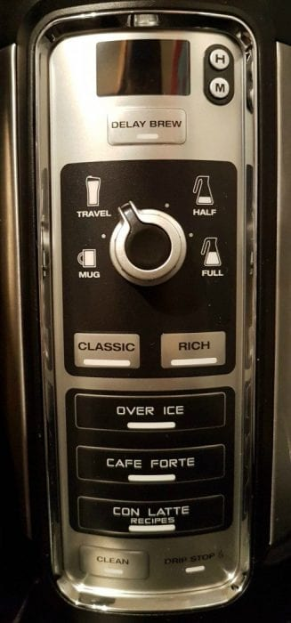 Ninja Coffee Bar Control Panel