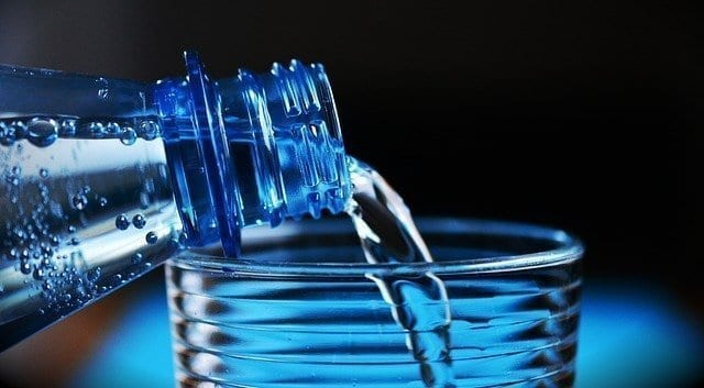 Bottle of water healthy new year tips