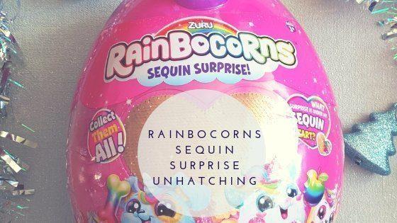 Unhatching A Rainbocorns Sequin Surprise Soft Plush Toy