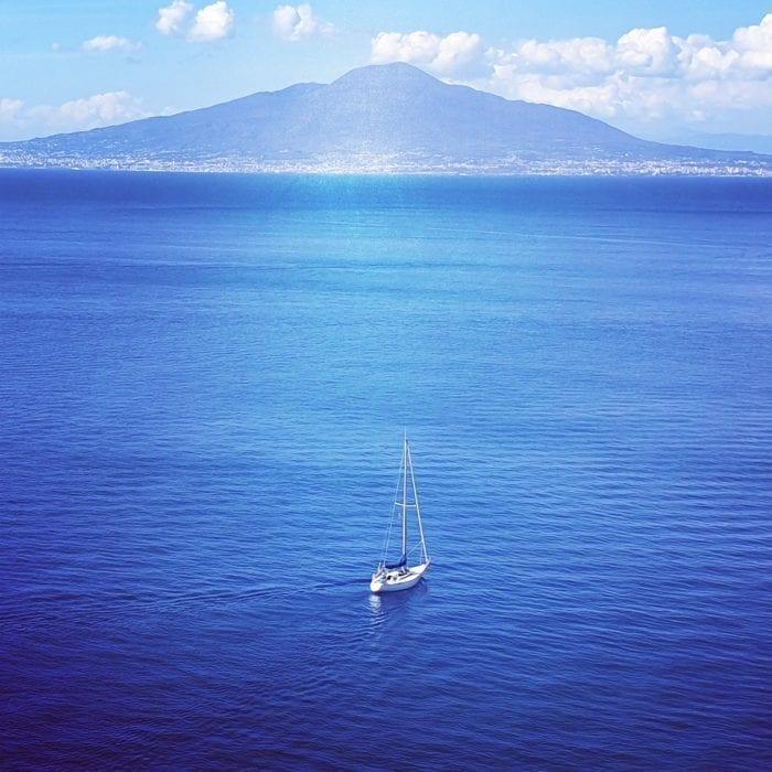 view of Vesuvius from Sorrento