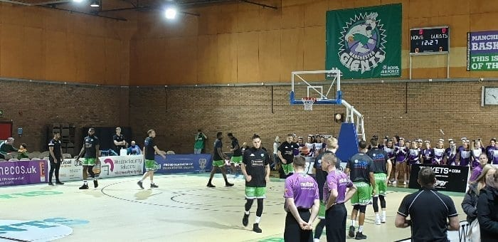 Manchester Giants warm up