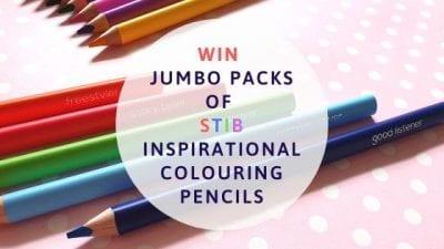 Christmas Giveaway: Win Jumbo Packs Of Stib Inspirational Colouring Pencils