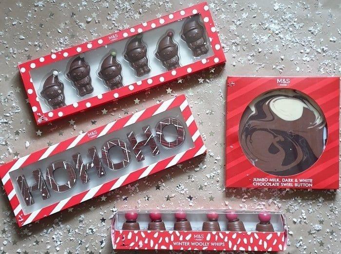 M&S Christmas chocolates