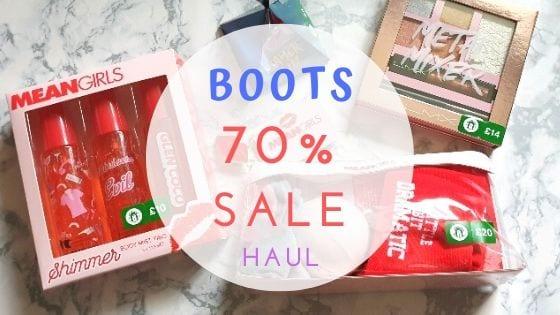 Boots 70% Sale Haul