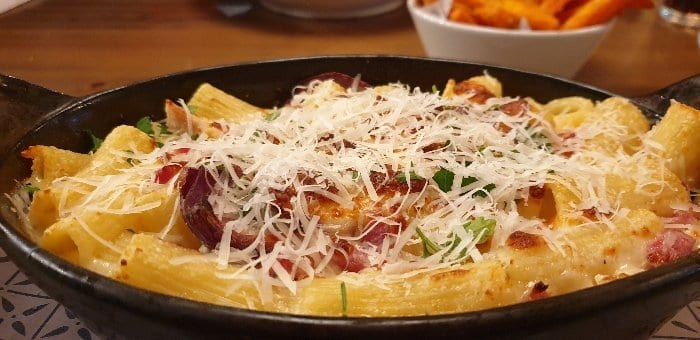 Chicken pasta at Bella Italia in Half Term