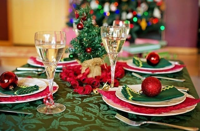 Setting a Christmas Table