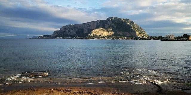 Mondello beach in Sicily