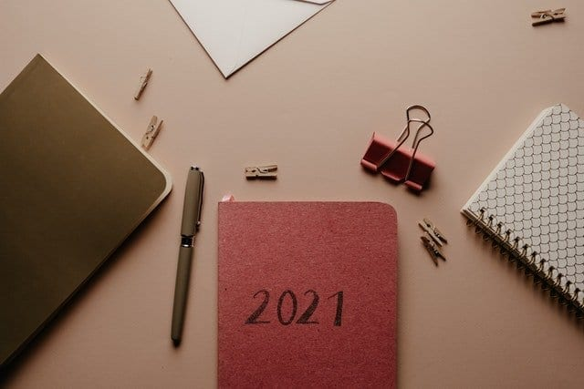 A new diary for 2021