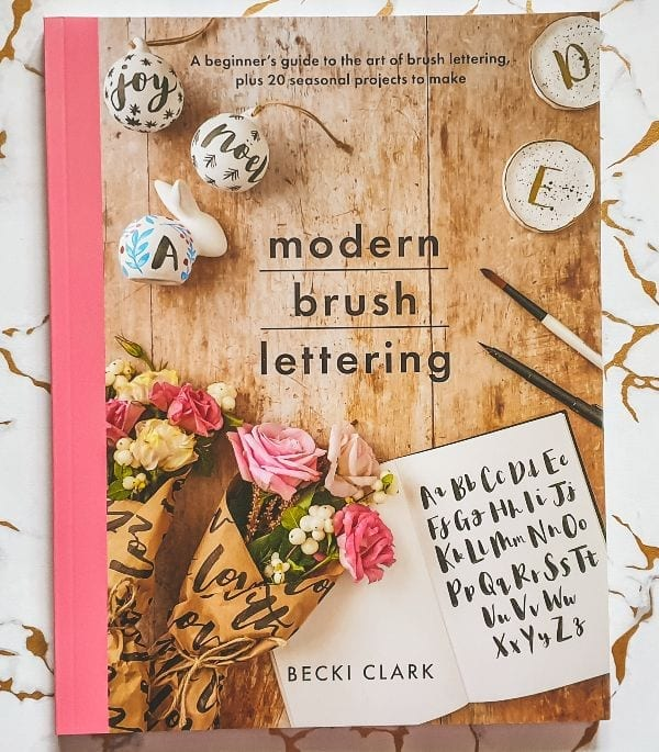 Modern Brush Lettering by Becki Clark past of the Win A Crafting Books Bundle giveaway